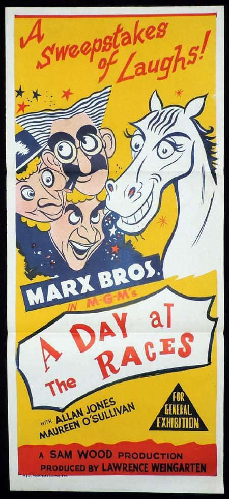 A DAY AT THE RACES Original Daybill Movie Poster The Marx Brothers
