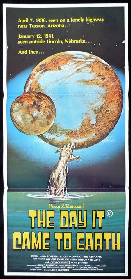 THE DAY IT CAME TO EARTH Daybill Movie poster Wink Roberts Sci Fi