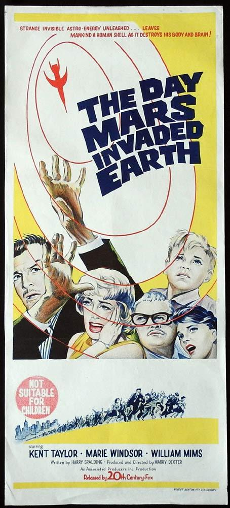 THE DAY MARS INVADED EARTH Original Daybill Movie Poster  Kent Taylor Marie Windsor Sci Fi