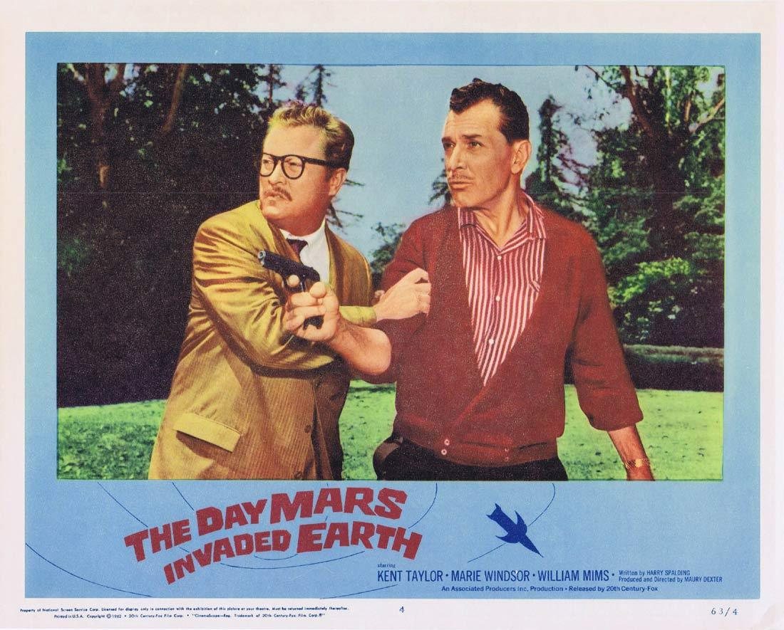 THE DAY MARS INVADED EARTH Original Lobby Card 4 Sci Fi