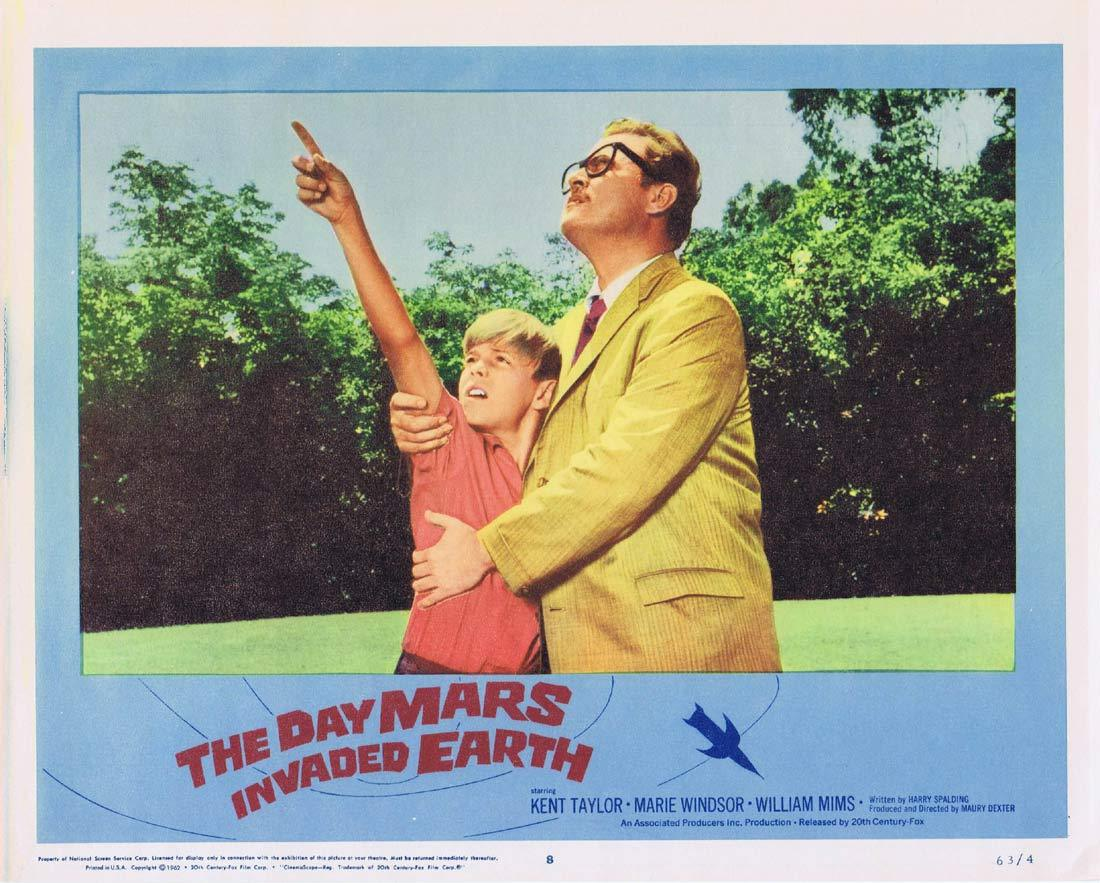 THE DAY MARS INVADED EARTH Original Lobby Card 8 Sci Fi