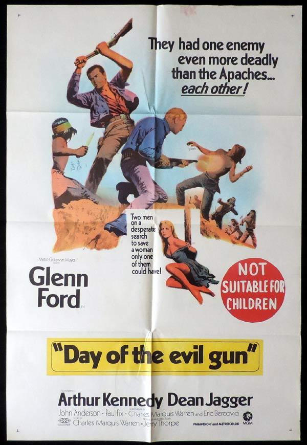 DAY OF THE EVIL GUN One sheet Movie poster Glenn Ford Western
