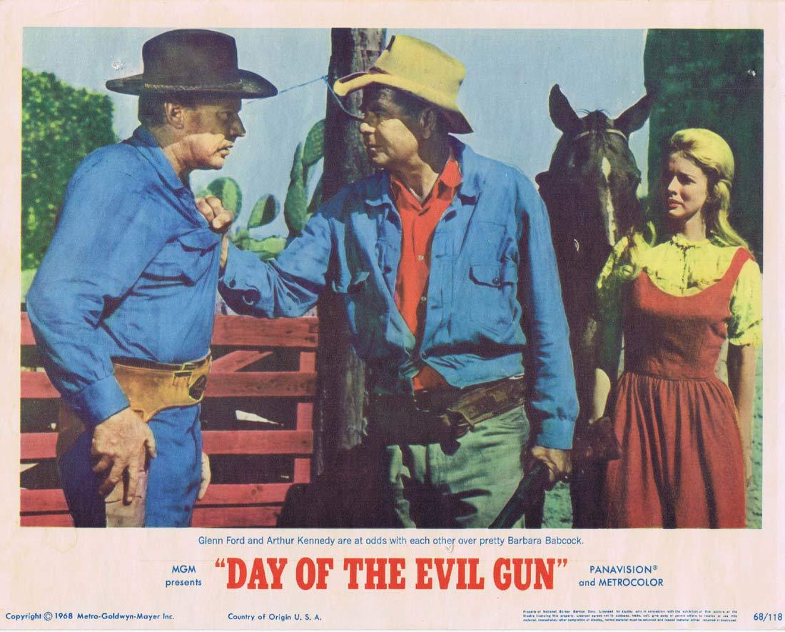 DAY OF THE EVIL GUN Lobby Card 2 Glenn Ford Arthur Kennedy