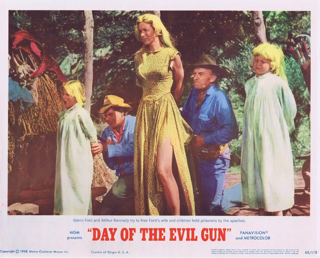 DAY OF THE EVIL GUN Lobby Card 3 Glenn Ford Arthur Kennedy