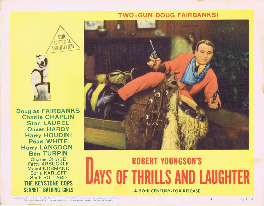 DAYS OF THRILLS AND LAUGHTER Lobby Card 5 Douglas Fairbanks