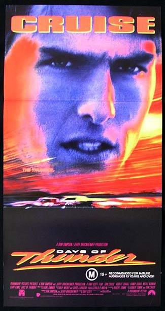DAYS OF THUNDER Daybill Movie Poster Tom Cruise Moto Racing