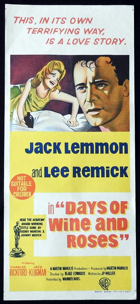 DAYS OF WINE AND ROSES Original Daybill Movie Poster Jack Lemmon