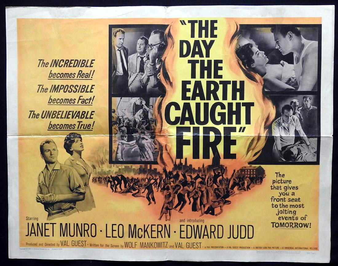 THE DAY THE EARTH CAUGHT FIRE US Half sheet Movie poster  Janet Munro Leo McKern