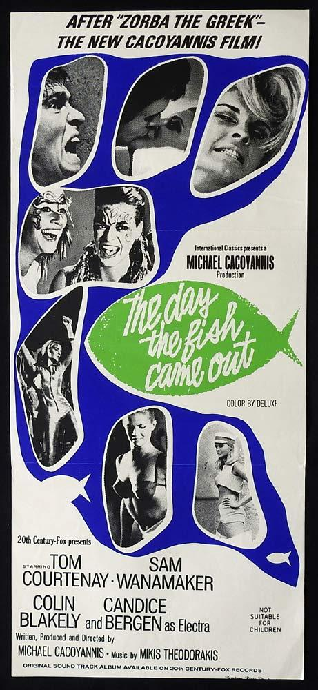 THE DAY THE FISH CAME OUT Original Daybill Movie Poster Tom Courtenay Sam Wanamaker
