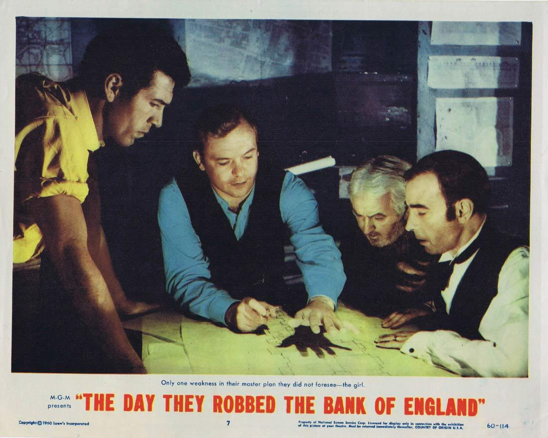 THE DAY THEY ROBBED THE BANK OF ENGLAND Lobby Card 7 Aldo Ray Elizabeth Sellars Peter O'Toole