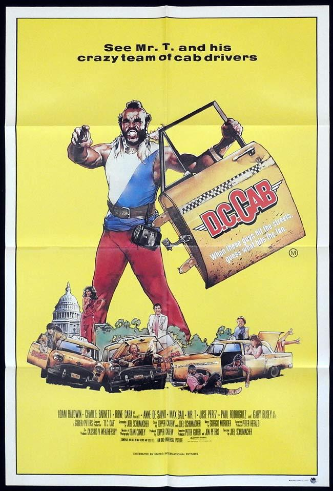 DC CAB Original One sheet Movie Poster MR T Max Gail Adam Baldwin