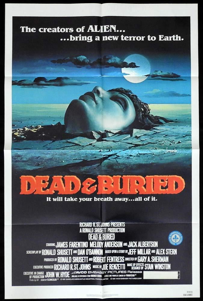 DEAD AND BURIED Original One sheet Movie Poster James Farentino Horror