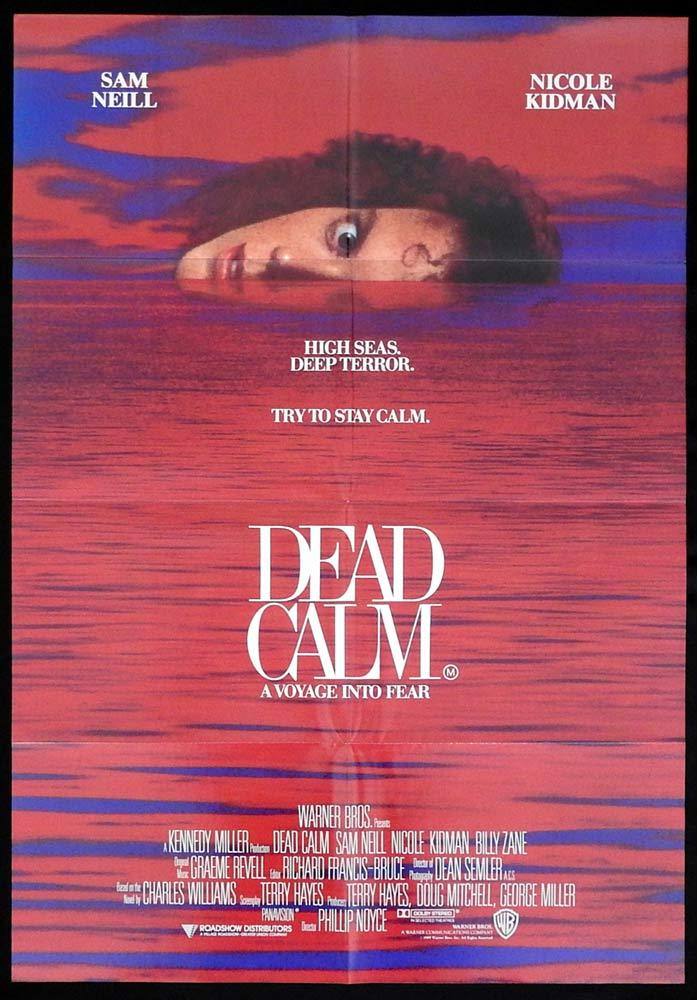 DEAD CALM Original One sheet Movie poster  Nicole Kidman Sam Neill