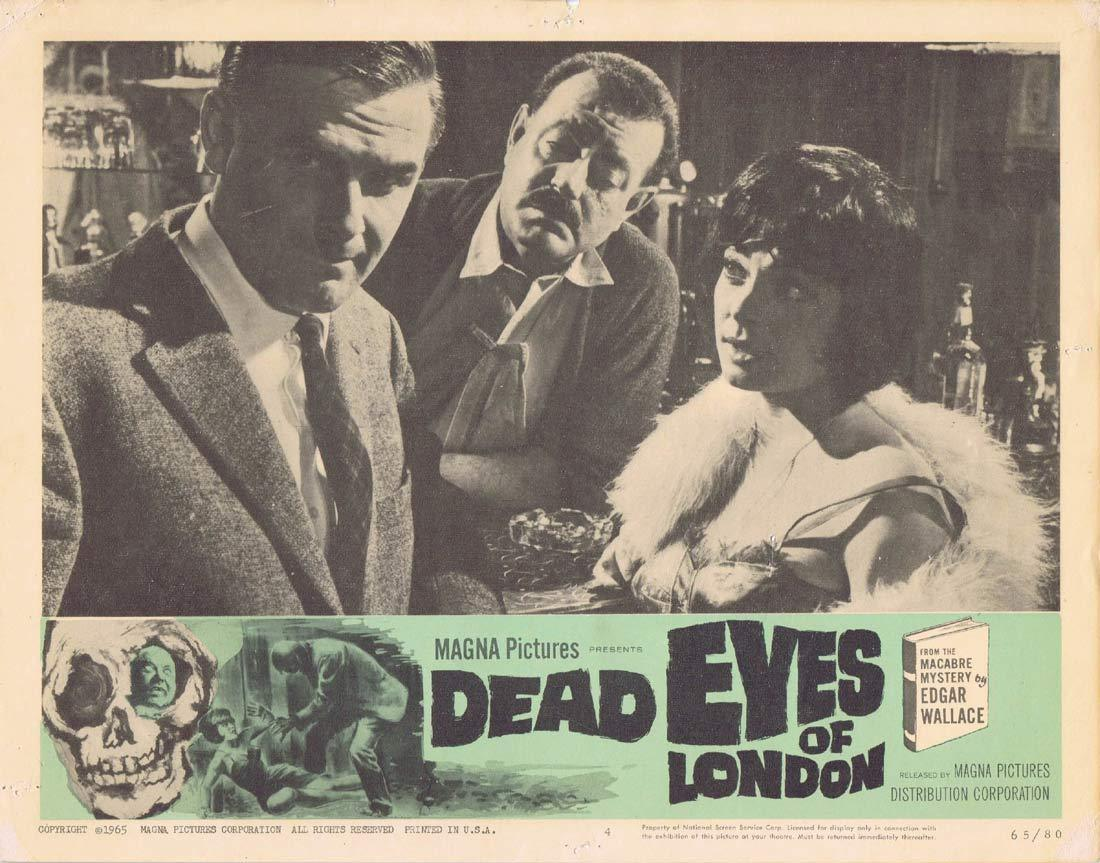 DEAD EYES OF LONDON Original Lobby Card 4 Joachim Fuchsberger Edgar Wallace