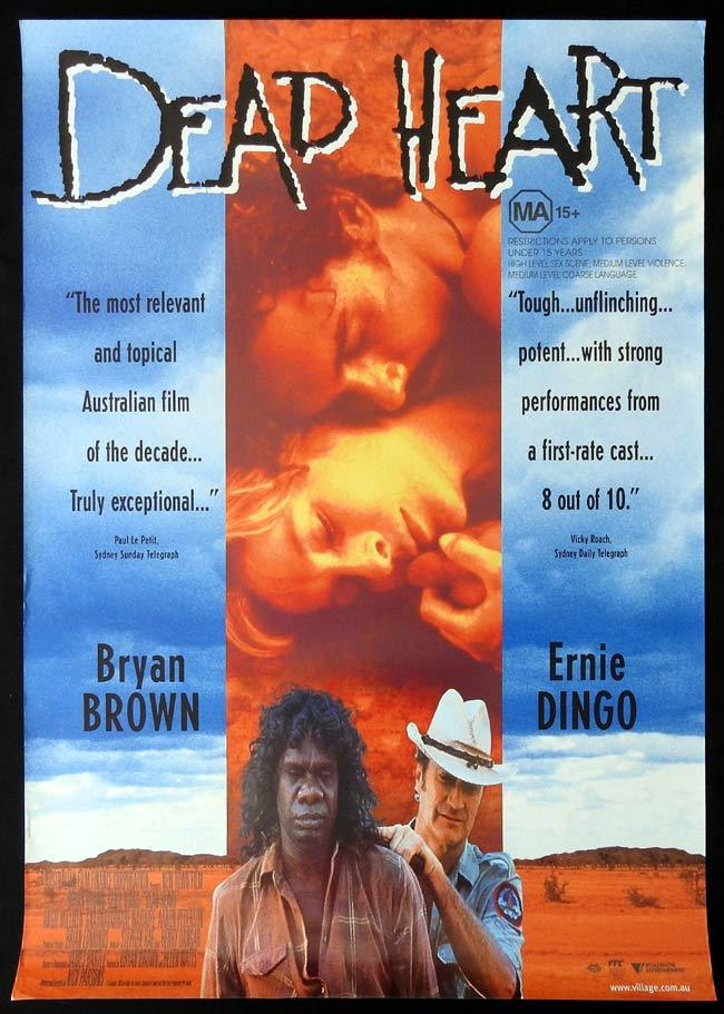 DEAD HEART Original One sheet Movie poster Bryan Brown Ernie Dingo David Gulpilil