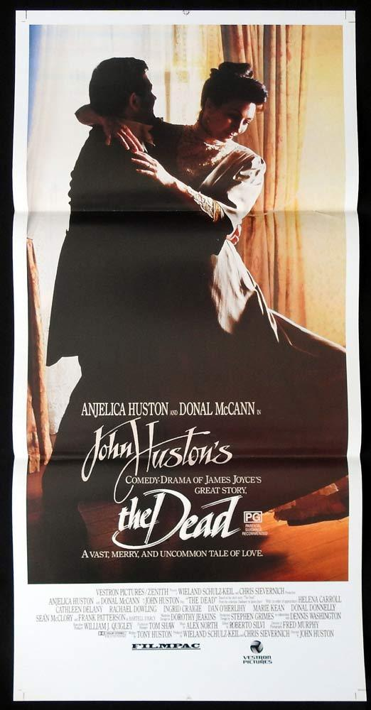 THE DEAD Original Daybill Movie Poster Anjelica Huston Donal McCann James Joyce