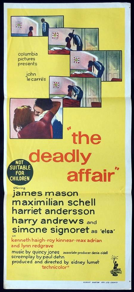 THE DEADLY AFFAIR Daybill Movie Poster James Mason Harry Andrews Simone Signoret