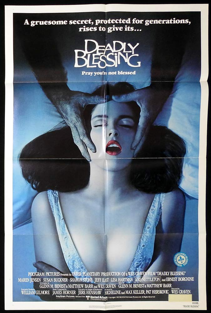 DEADLY BLESSING Original US One Sheet Movie Poster Horror Wes Craven