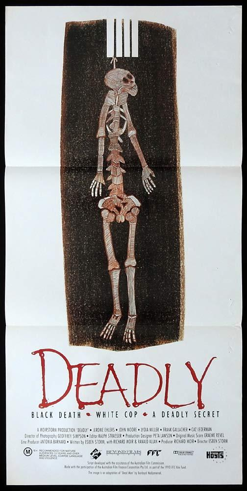 DEADLY Original Daybill Movie Poster Jerome Ehlers