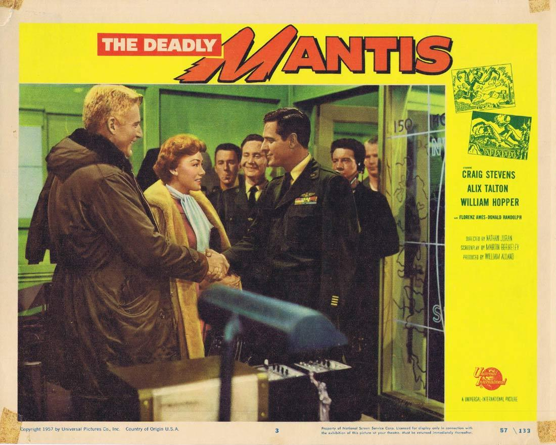 THE DEADLY MANTIS Lobby Card 3 Richard Denning Trudy Marshall Damian O'Flynn