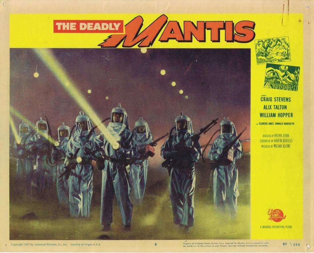 THE DEADLY MANTIS Lobby Card 5 Richard Denning Trudy Marshall Damian O'Flynn