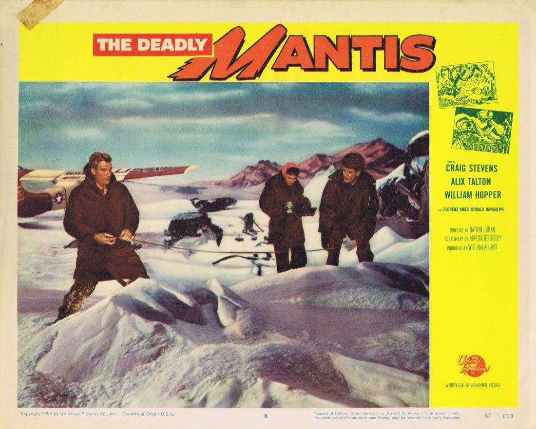 THE DEADLY MANTIS Lobby Card 8 Richard Denning Trudy Marshall Damian O'Flynn