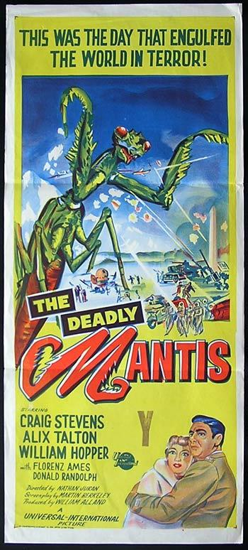 THE DEADLY MANTIS '57 Giant Insect! RARE Australian Daybill Movie poster