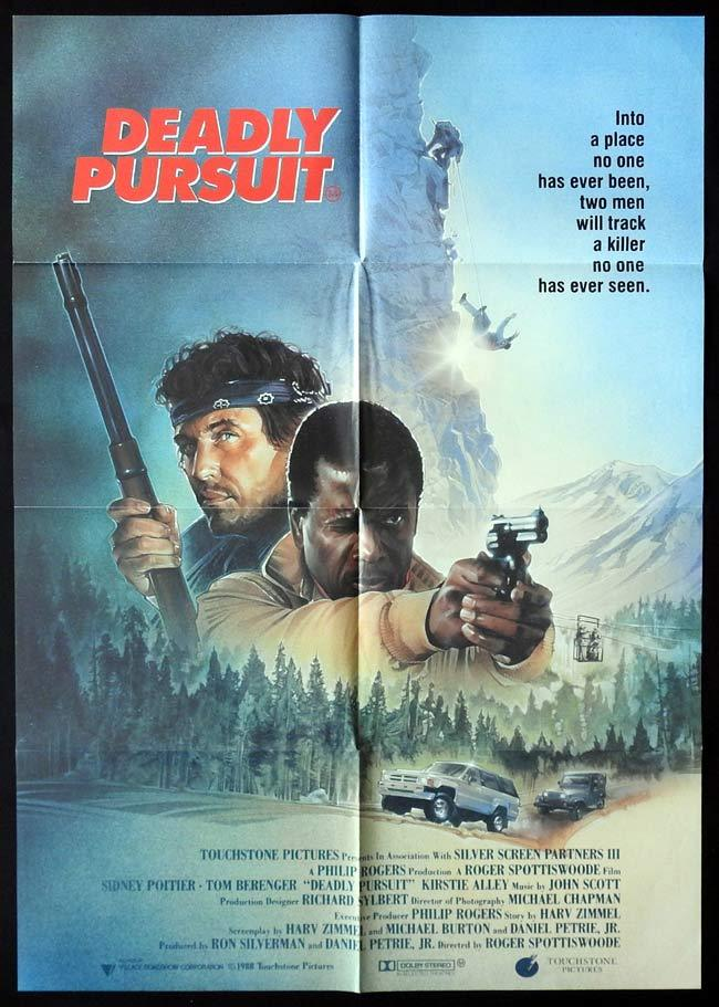 DEADLY PURSUIT Original One sheet Movie poster Tom Berenger Sidney Poitier