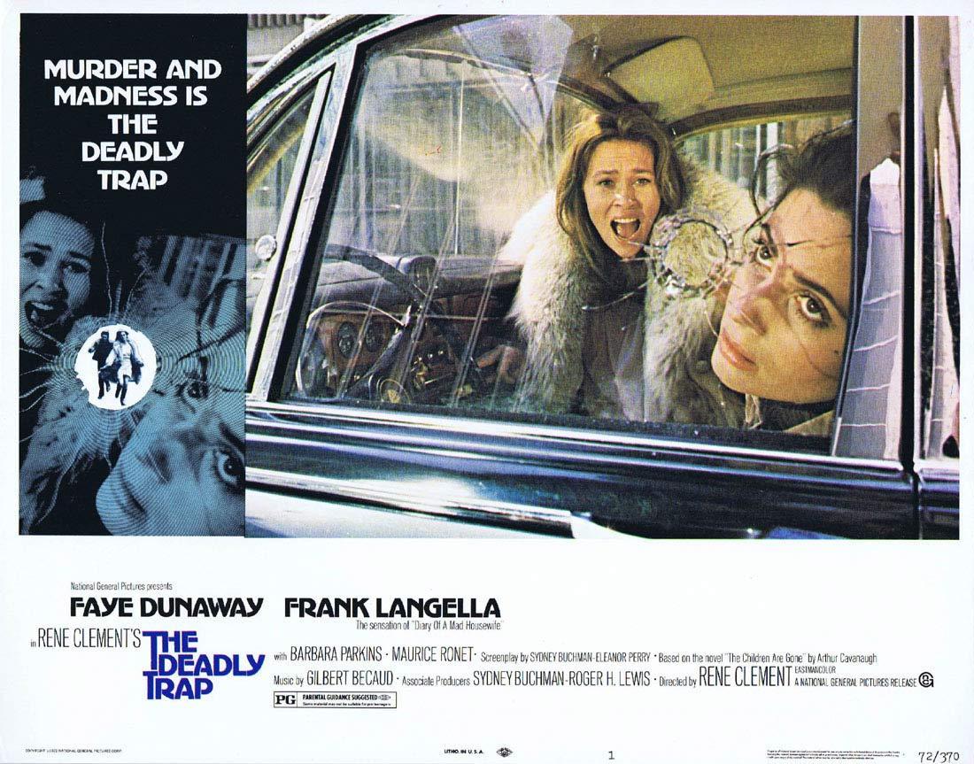 THE DEADLY TRAP Original Lobby Card 1 Faye Dunaway Frank Langella