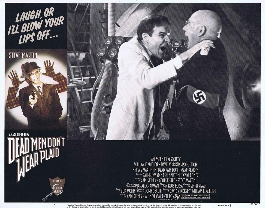 DEAD MEN DON'T WEAR PLAID Original Lobby Card 1 Steve Martin