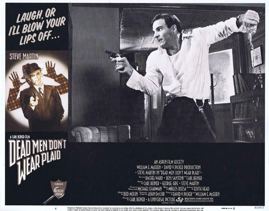DEAD MEN DON'T WEAR PLAID Original Lobby Card 4 Steve Martin