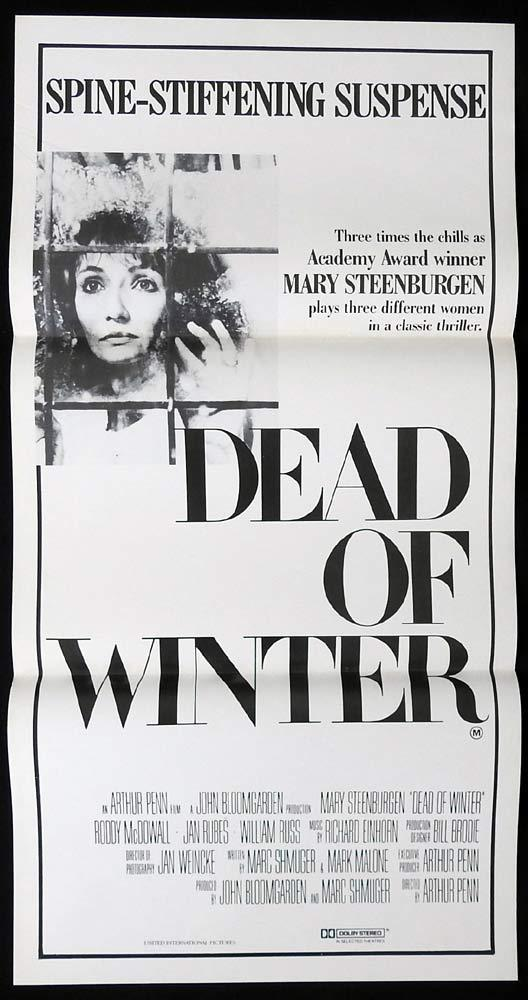 DEAD OF WINTER Original Daybill Movie Poster Mary Steenburgen Jan Rubes