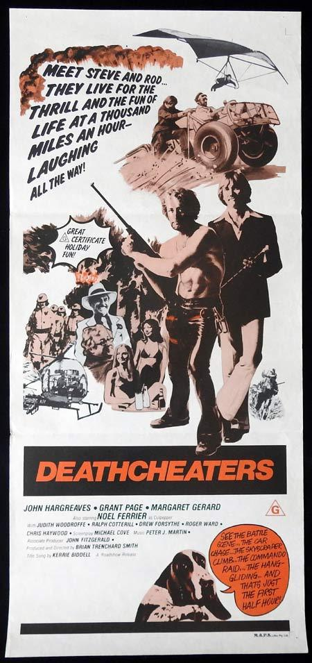 DEATHCHEATERS Original Daybill Movie Poster 1976 John Hargraeves