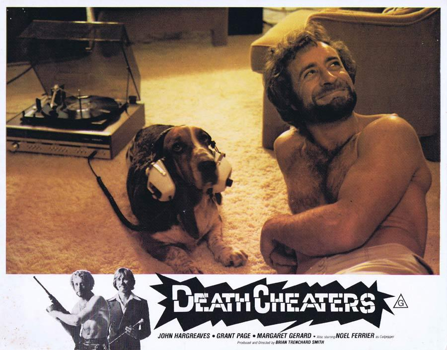 DEATH CHEATERS Lobby Card 1 Grant Page Stunt Man