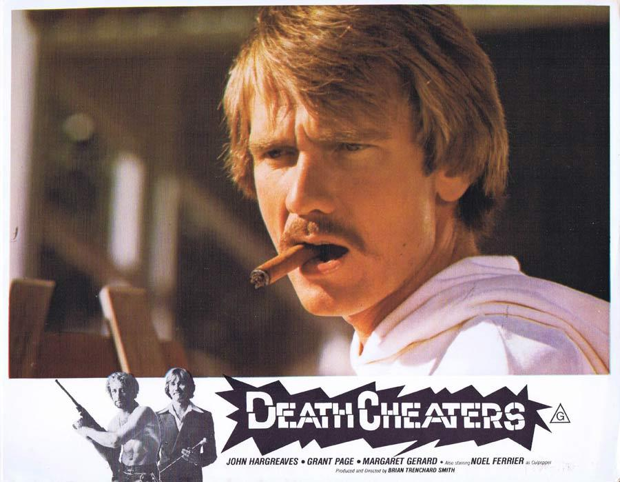DEATH CHEATERS Lobby Card 2 John Hargreaves Stunt Man