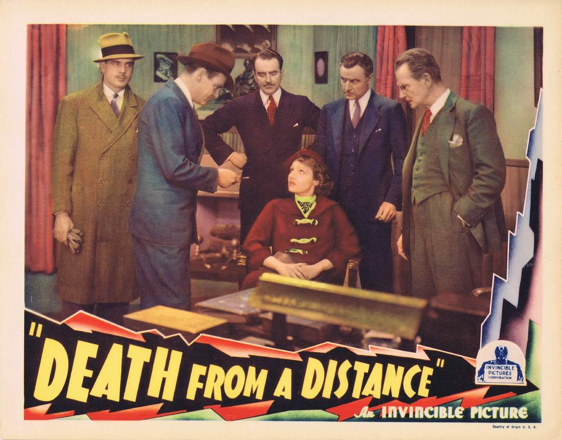 DEATH FROM A DISTANCE Lobby Card Russell Hopton Lola Lane George F. Marion |1935