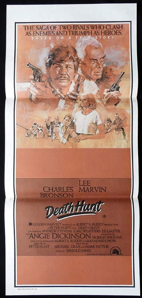 DEATH HUNT Original Daybill Movie Poster Charles Bronson Lee Marvin Ed Lauter
