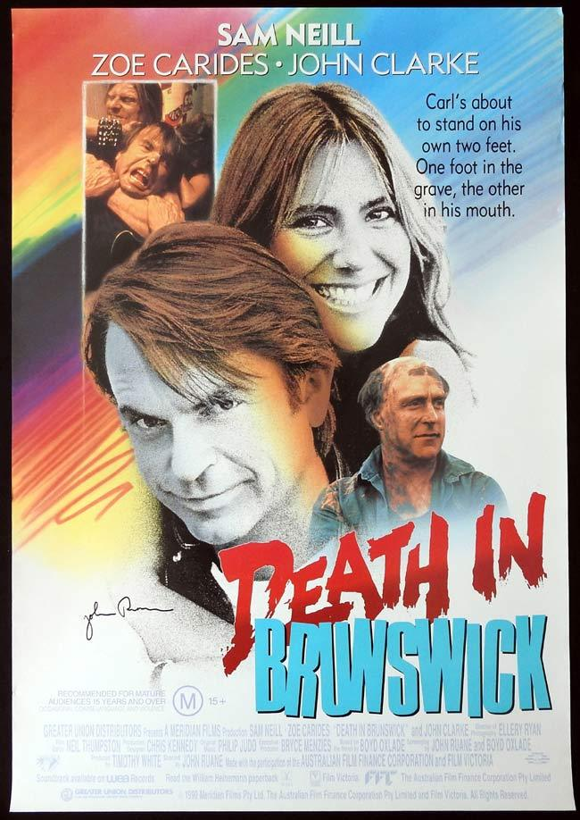 DEATH IN BRUNSWICK Original Video One sheet Movie poster Autograph