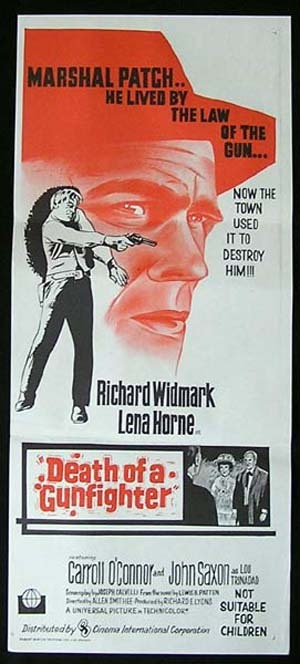DEATH OF A GUNFIGHTER Daybill Movie poster Don SiegelWestern