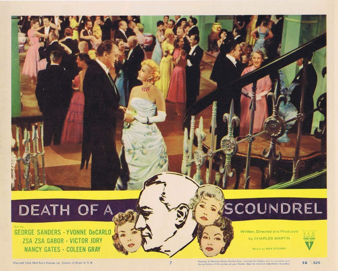 DEATH OF A SCOUNDREL Lobby Card 7 George Sanders RKO Yvonne De Carlo Zsa Zsa Gabor