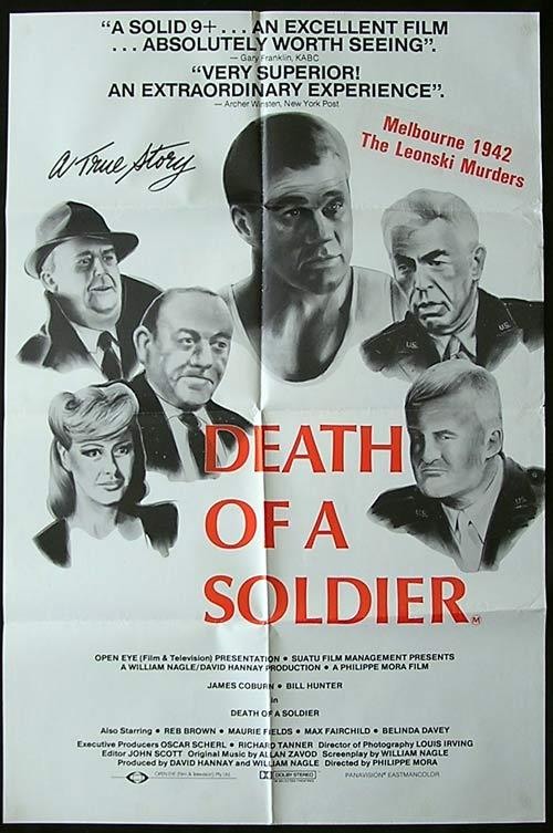 DEATH OF A SOLDIER 1986 Phillipe Mora Rare Country of Origin Movie poster