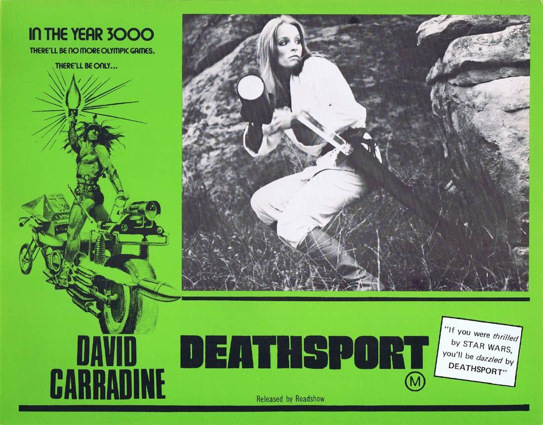DEATHSPORT Original Lobby Card 7 David Carradine Claudia Jennings