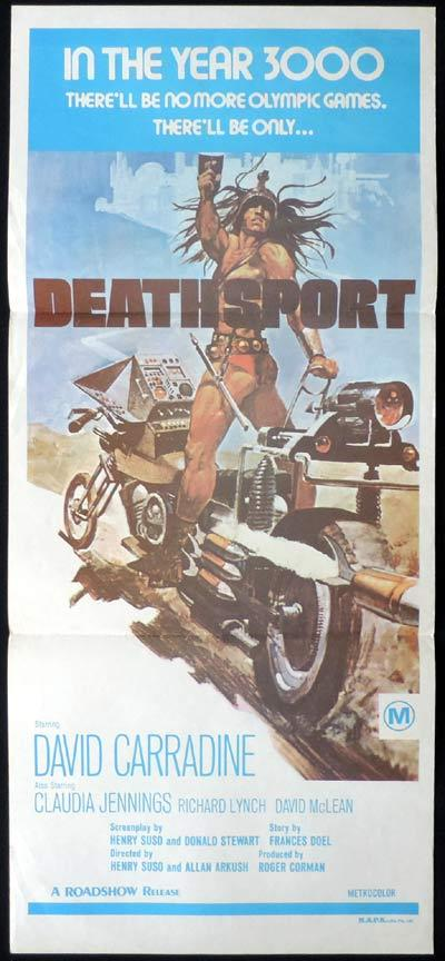 DEATHSPORT Original Daybill Movie Poster Roger Corman David Carradine