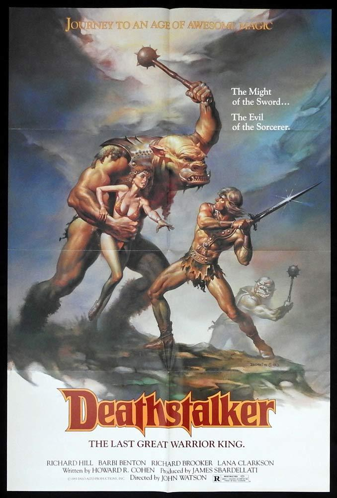 DEATHSTALKER Original US One sheet Movie poster Boris Vallejo Art Roger Corman