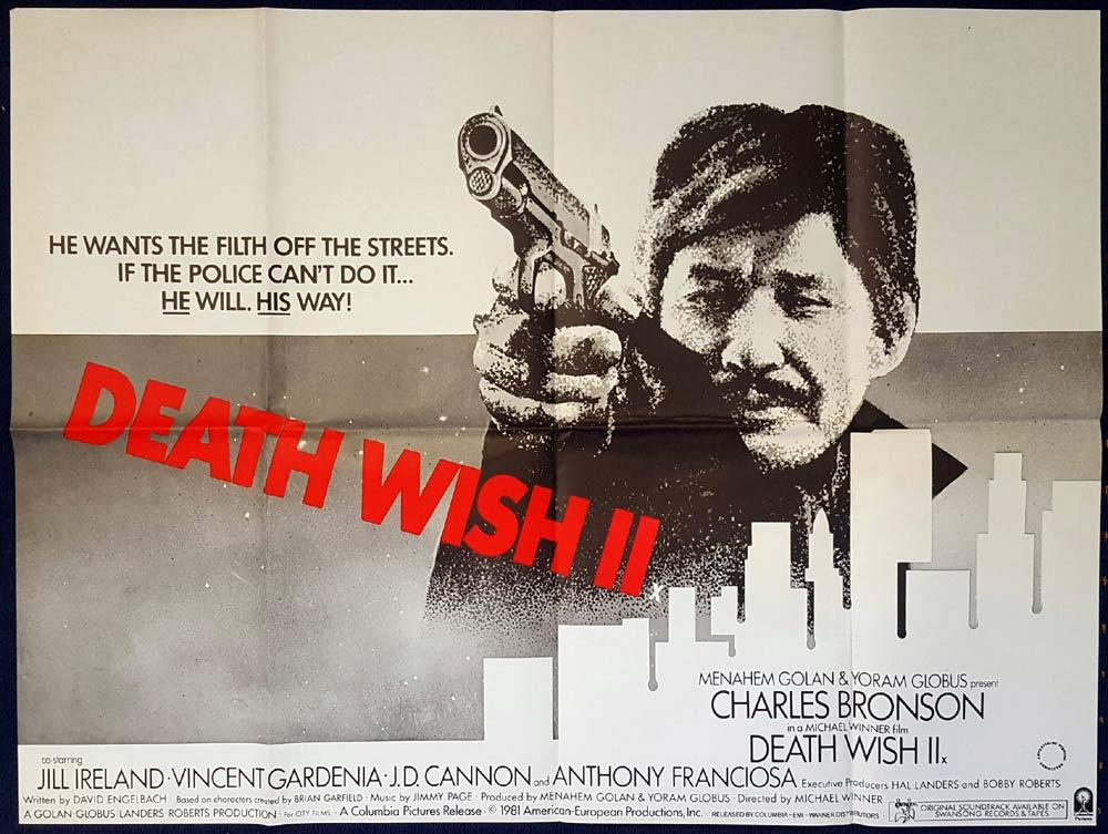Death Wish II, Michael Winner, Charles Bronson, Jill Ireland, Vincent Gardenia, J.D. Cannon