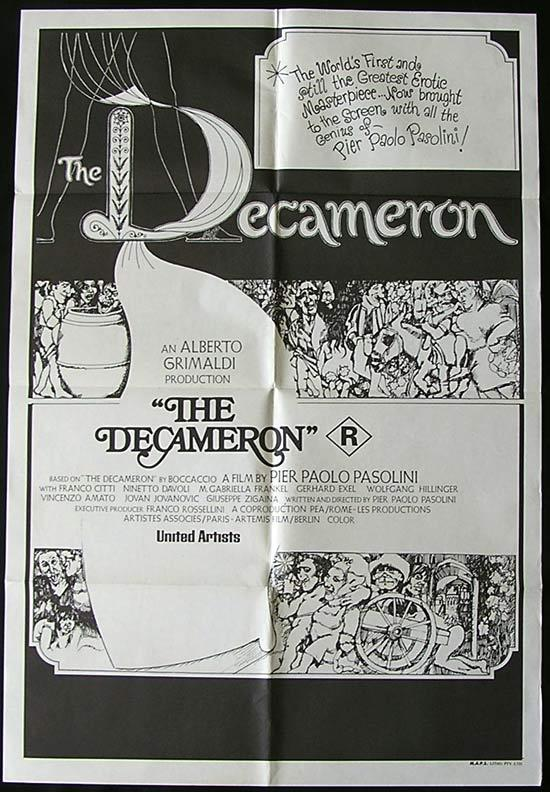 THE DECAMERON Original One sheet Movie poster Pier Paolo Pasolini