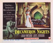 DECAMERON NIGHTS Original Lobby Card 2 Joan Fontaine Louis Jourdan