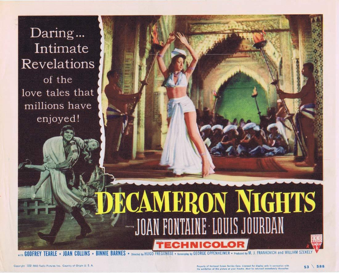 DECAMERON NIGHTS Original Lobby Card 2 Joan Fontaine Louis Jourdan