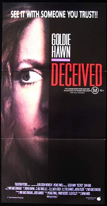 DECEIVED daybill movie poster Goldie Hawn John Heard ORIGINAL
