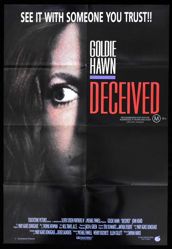 DECEIVED One sheet movie poster Goldie Hawn John Heard ORIGINAL